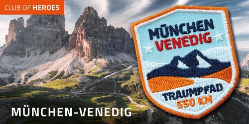 Jetzt München-Venedig erwandern