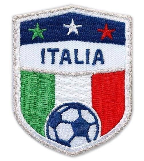 Fußball Ball Calcio Fußball Italien Italia Flagge Bandiera Stickerei Abzeichen