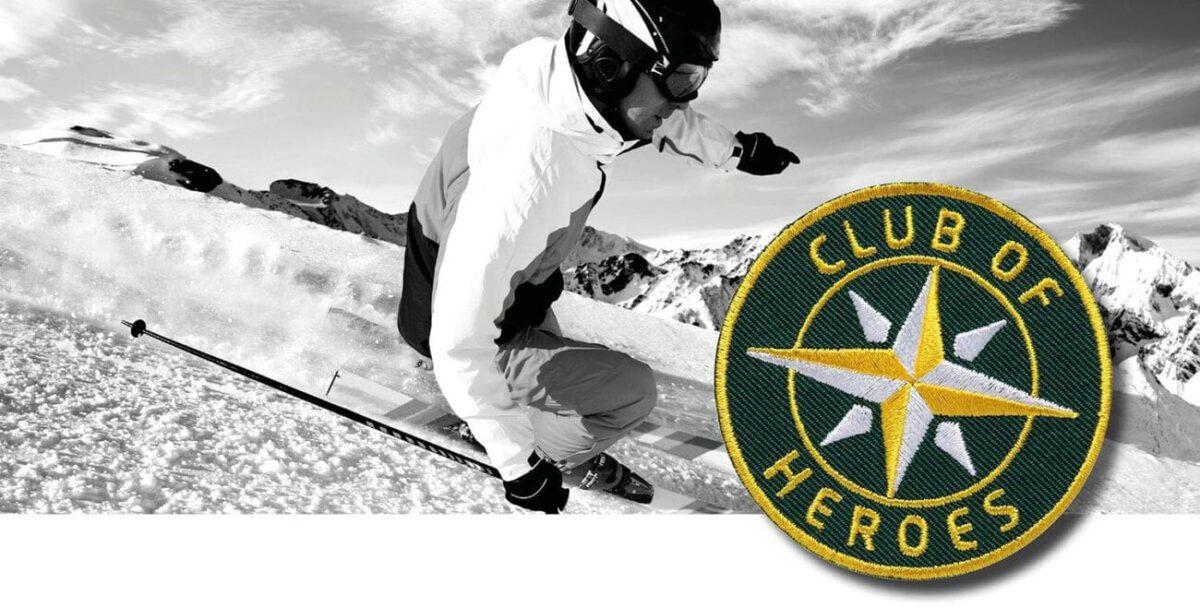 Wintersport Ski Snowboard / gestickte Aufnäher Patches und Bügelflicken zum Aufnähen oder Aufbügeln von Club-of-Heroes
