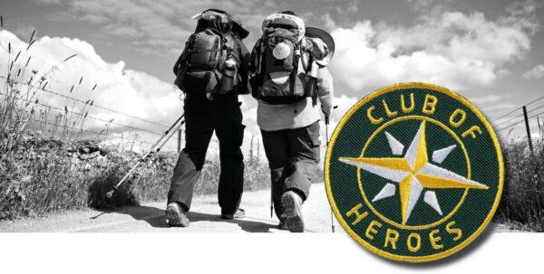 Jakobswege nach Santiago / gestickte Aufnäher Patches und Bügelflicken zum Aufnähen oder Aufbügeln von Club-of-Heroes