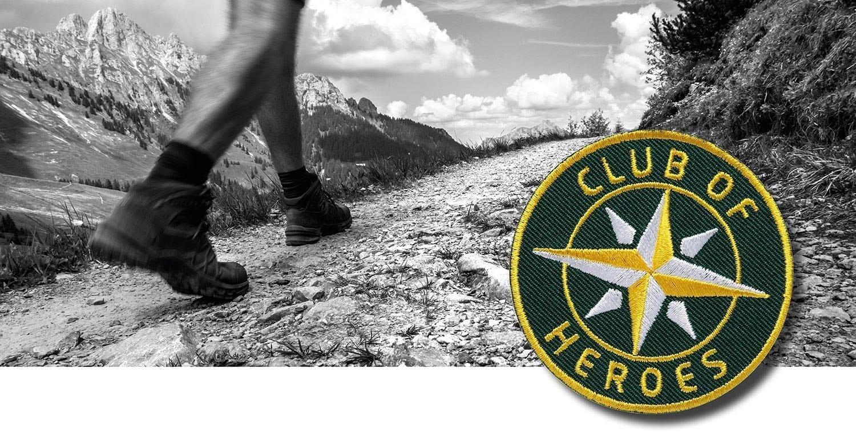 Wandern Trekking Alpencross / gestickte Aufnäher Patches und Bügelflicken zum Aufnähen oder Aufbügeln von Club-of-Heroes
