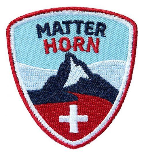 Abzeichen für Berg-Wanderung am Matterhorn, Zermatt Schweiz