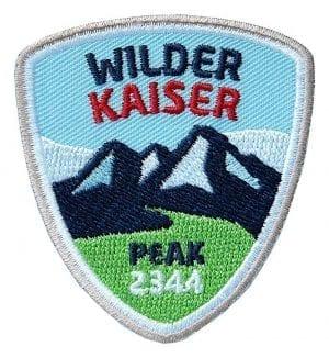 Gesticktes Abzeichen für Ihre Bergtour am Wilden Kaiser