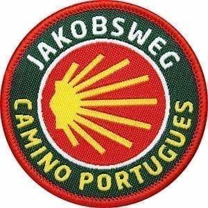 Jakobsweg–camino-portugues-portugal-pilgerweg-pilgern-pilger-coh-club-of-heroes-patch-abzeichen-aufnaeher-aufkleber-sticker-emblem-button-gewebt-gewoben