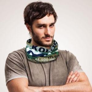 Multifunktionstuch Korsika GR20 Fernwanderweg tragbar als Kopftuch, Halstuch, Stirnband