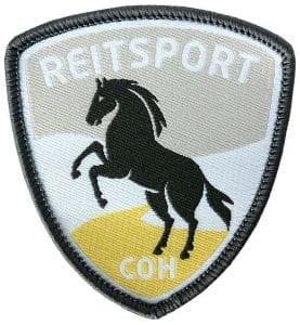 reitsport-reiten-pferd-gestüt-stall-dressur-coh-club-of-heroes-patch-abzeichen-aufnaeher-aufkleber-sticker-emblem-button-gewebt-gewoben