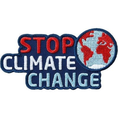 Abzeichen gegen Klimawandel, Erderwärmung und für Klimaschutz