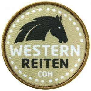 western-westernpferd-reitsport-reiten-pferd-coh-club-of-heroes-patch-abzeichen-aufnaeher-aufkleber-sticker-emblem-button-gewebt-gewoben