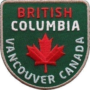 kanada-britsh-columbia-vancouver-ahorn-blatt-reise-wildnis-abzeichen-patch-aufnaeher-logo-aufbuegler-sticker-flicken-club-of-heroes-coh