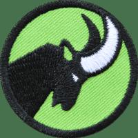 Steinbock Patch - Applikation gestickt als Aufbügler, Aufnäher, Bügelflicken