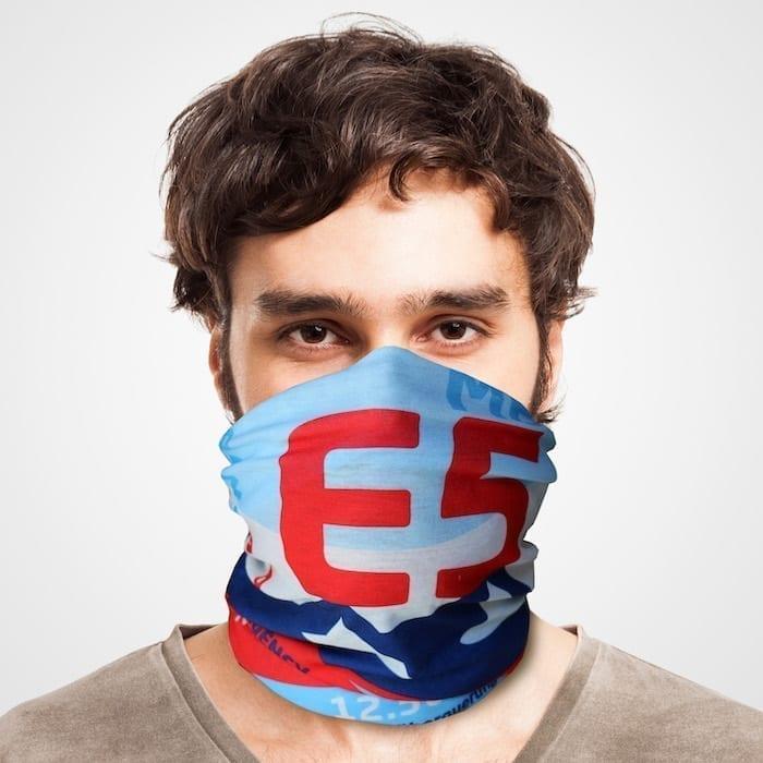 E5 Funktionstuch als Mundschutz, Maske, Schutzmaske / Alpencross Trekking Oberstdorf Meran