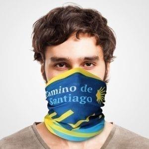 Funktionstuch als Mundschutz, Maske, Schutzmaske / Camino de Santiago