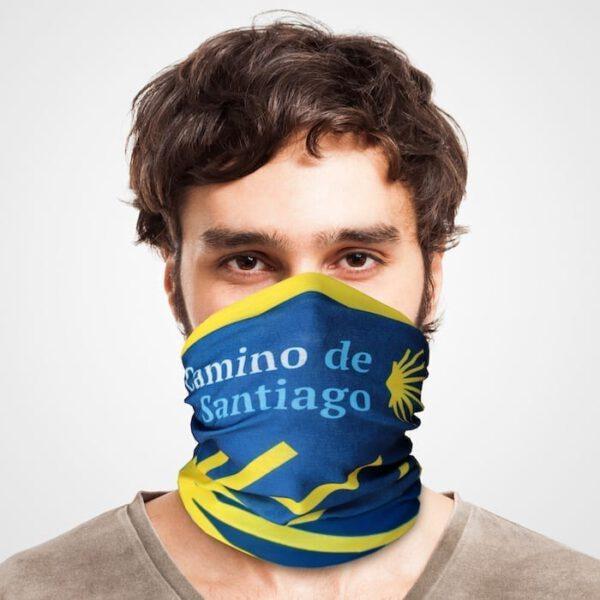 Funktionstuch als Mundschutz, Maske, Schutzmaske / Jakobsweg Camino de Santiago