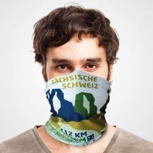 Malerweg Funktionstuch als Mundschutz, Maske, Schutzmaske / Elbsandstein Gebirge