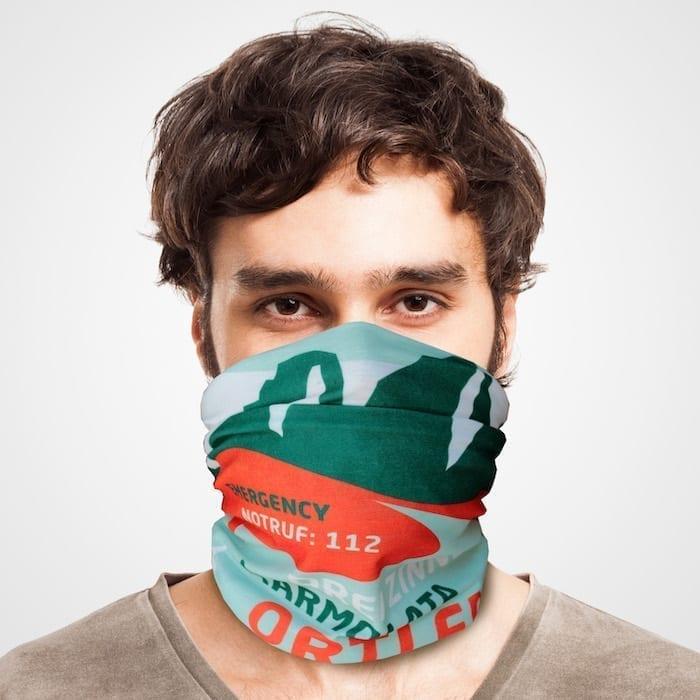 Funktionstuch als Mundschutz, Maske, Schutzmaske / Dolomiten Südtirol
