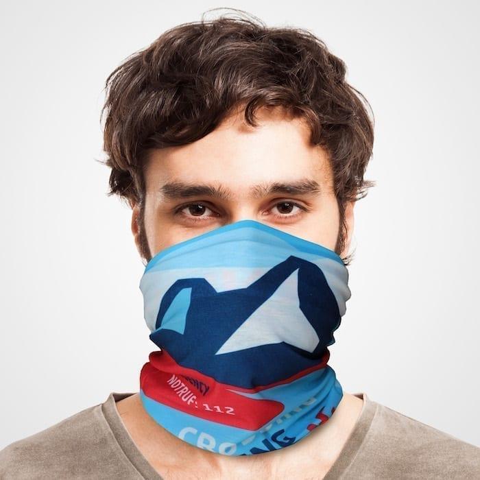 Funktionstuch als Mundschutz, Maske, Schutzmaske / Alpencross Trekking