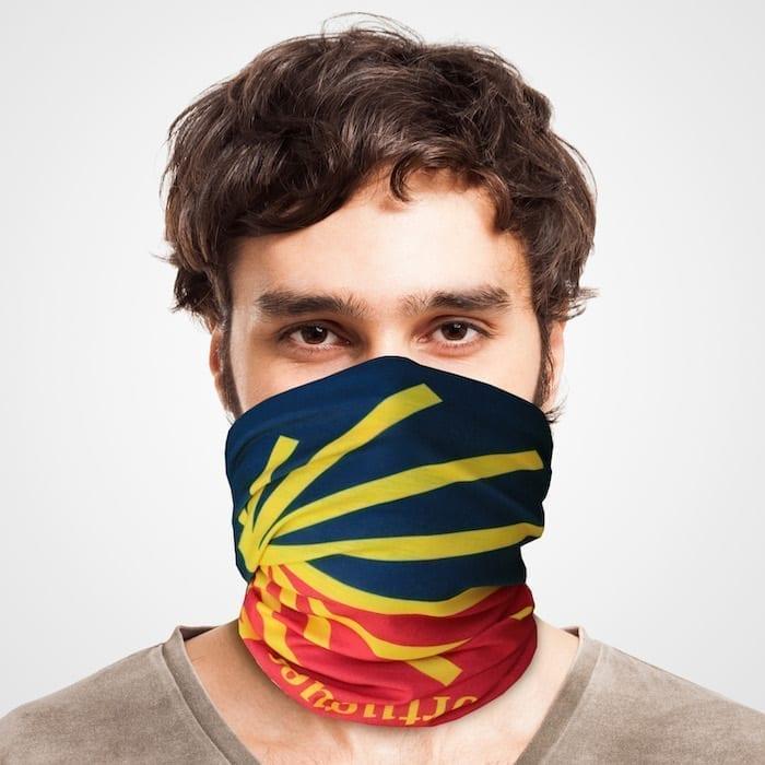 Funktionstuch als Mundschutz, Maske, Schutzmaske / Jakobsweg Camino del Norte