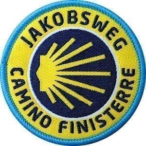 Jakobsweg-camino-finisterre-abzeichen-patch-wappen-jakobs-muschel-pilgerweg-piglern-club-of-heroes