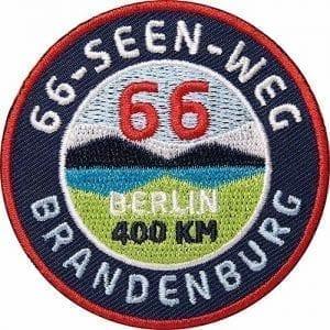 66-Seen-Weg-Brandenburg-Berlin Aufnäher von Club of Heroes.