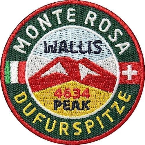 Monte-Rosa Gebirge Dufurspitze Schweiz Aufnäher von Club of Heroes.