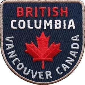 Kanada-Britsh-Columbia-Vancouver Aufnäher von Club of Heroes.