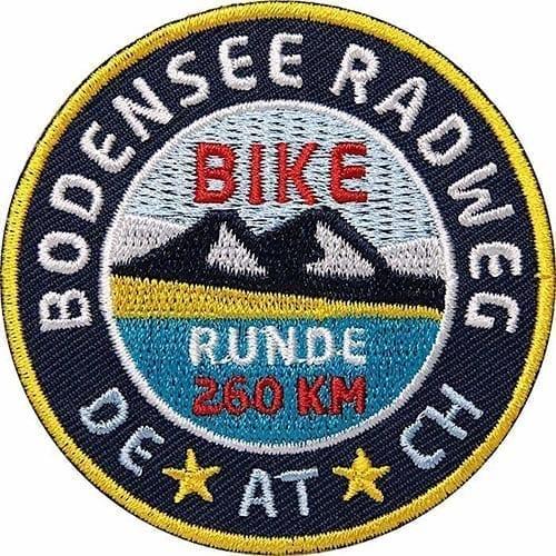 Bodensee-Radweg-Umrundung Aufnäher von Club of Heroes.
