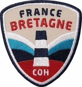 Bretagne-Frankreich-Meer-Atlantik-Küste-Leuchtturm Aufnäher von Club of Heroes.