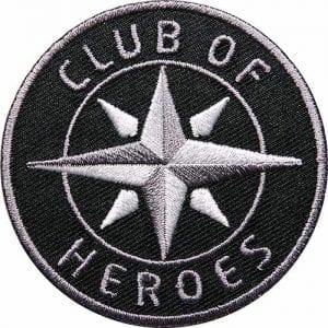 club-of-heroes-kompass-logo-marke-brand-coh-schwarz-grau-silber-flagge-flagg-wappen-patch-abzeichen-aufnaeher-aufbuegler-buegelbild-flicken-patches-clubofheroes-coh