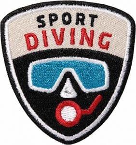 Diving-Sport-Tauchen Aufnäher von Club of Heroes.