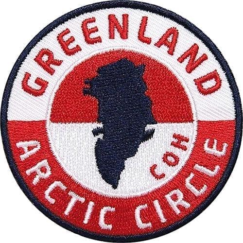 Grönland-Greenland-Arktic-Polarkreis Aufnäher von Club of Heroes.