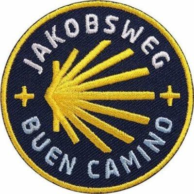 Jakobsweg-Camino-Santiago-Buen-Camino-Muschel-Jakobsmuschel - Aufnäher von Club of Heroes.