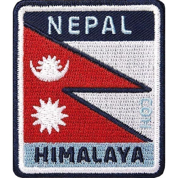 Nepal Himalaya Flagge Bergsteiger Aufnäher von Club of Heroes.