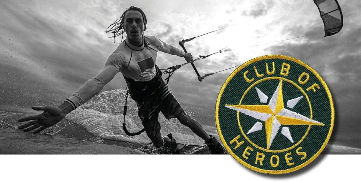 Kitesurfen Kite-Surfen Kiting / gestickte Aufnäher Patches und Bügelflicken zum Aufnähen oder Aufbügeln von Club-of-Heroes