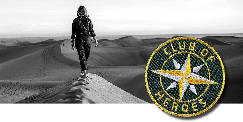 Reise Abenteuer / gestickte Aufnäher Patches und Bügelflicken zum Aufnähen oder Aufbügeln von Club-of-Heroes