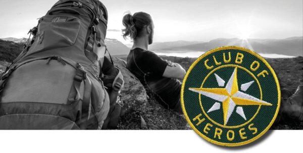 Gestickte Abzeichen für Trekking Outdoor Sports von Club of Heroes