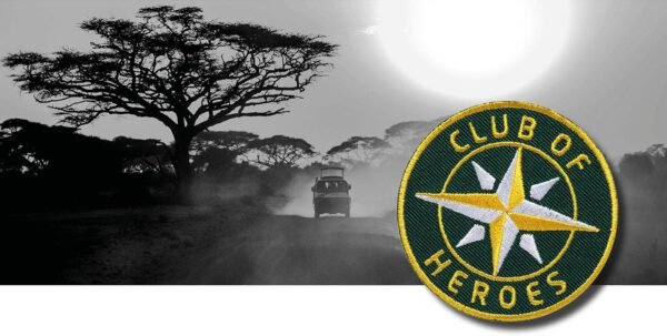 Afrika Reise Safari / gestickte Aufnäher Patches und Bügelflicken zum Aufnähen oder Aufbügeln von Club-of-Heroes