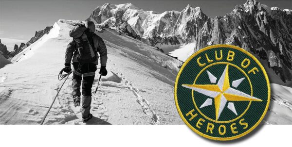 Bergsteigen Alpen Himalaya Bergtour / gestickte Aufnäher Patches und Bügelflicken zum Aufnähen oder Aufbügeln von Club-of-Heroes