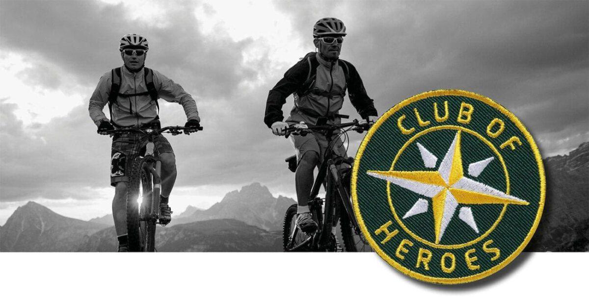 Mountainbike Tour Alpencross / gestickte Aufnäher Patches und Bügelflicken zum Aufnähen oder Aufbügeln von Club-of-Heroes