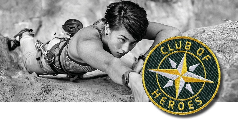 Klettern Bergsteigen Climbing Boulder / gestickte Aufnäher Patches und Bügelflicken zum Aufnähen oder Aufbügeln von Club-of-Heroes