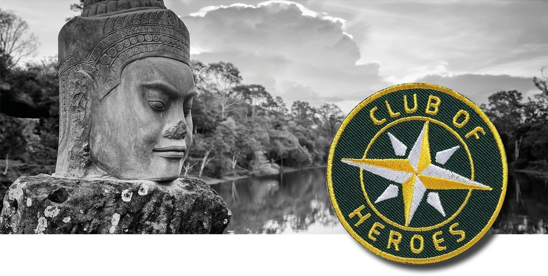 Reisen Globetrotter Backpacker Asien / gestickte Aufnäher Patches und Bügelflicken zum Aufnähen oder Aufbügeln von Club-of-Heroes