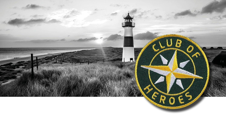 Nordsee Wattenmeer und Ostsee Inseln / gestickte Aufnäher Patches und Bügelflicken zum Aufnähen oder Aufbügeln von Club-of-Heroes