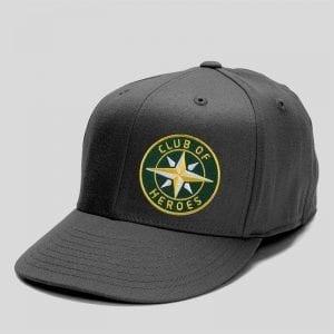 Applikation auf Baseball-Cap / gestickte Aufnäher Patches und Bügelflicken zum Aufnähen oder Aufbügeln von Club-of-Heroes
