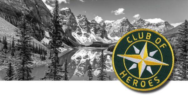 Kanada Abenteuer Reise Nationalparks / gestickte Aufnäher Patches und Bügelflicken zum Aufnähen oder Aufbügeln von Club-of-Heroes