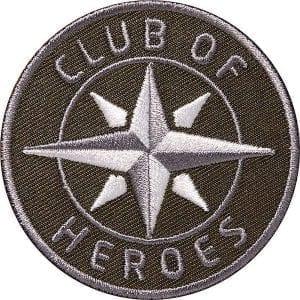Kompass Outdoor Aufnäher von Club of Heroes. 62 mm Braun