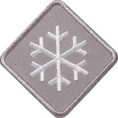 Schneeflocke-Winter-Wintersport Aufnäher von Club of Heroes. Grau
