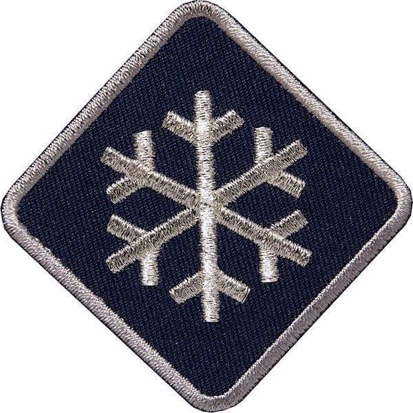 Schneeflocke-Winter-Wintersport Aufnäher von Club of Heroes. Marine