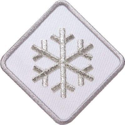 Schneeflocke-Winter-Wintersport Aufnäher von Club of Heroes. Weiss