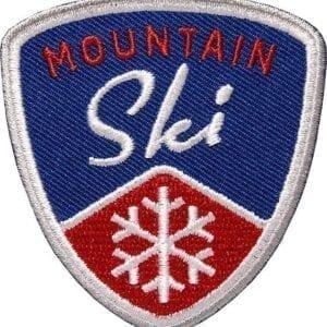 Mountain Ski Wintersport Aufnäher von Club of Heroes. Marine