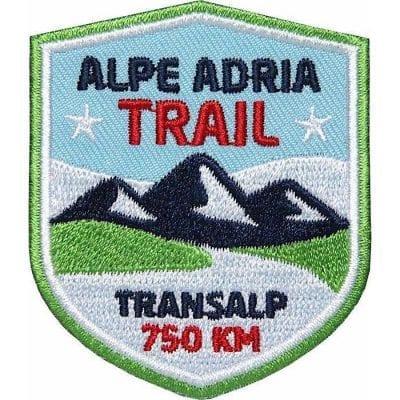 Alpe Adria Trail, Fernwanderweg, Transalp, Alpencross vom Grossglockner nach Triest, Aufnäher, Patch, Patches, Flicken, Bügelbild