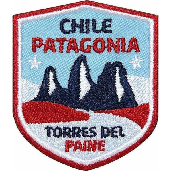 Chile Patagonien Südamerika, Nationalpark Torres del Paine, Aufnäher Patches Trekking, Aufnäher, Patch, Patches, Flicken, Bügelbild